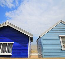 Blue Beach Huts, Southwold UK. by PhillipJones