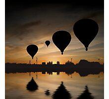 Sunset Balloon Reflection Photographic Print