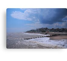 Weather Clouds over Southwold, uk. Canvas Print