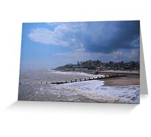 Weather Clouds over Southwold, uk. Greeting Card