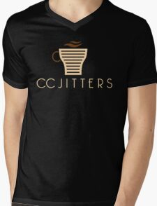 Central City CC Jitters Coffee Mens V-Neck T-Shirt