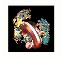 Ring & Flowers Art Print