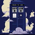 TIME TRAVEL -It's Quicker by Blue Box by DinobotTees