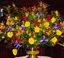 0109  Floral Arrangement for Easter Sunday by Pitt Street  Uniting Church, Sydney