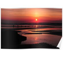 The Sun Goes Down.2. Brancaster Bay uk. Poster