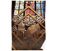 Metal Decoration in St Vitus Cathedral, Prague Poster