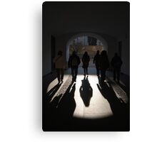 Light at the End of the Tunnel, Prague Castle Canvas Print