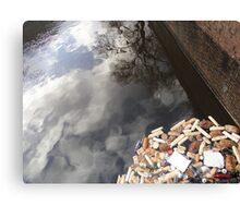 Waste, Wall and Reflected Sky Canvas Print