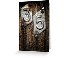 35 Greeting Card