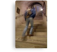 Up the Stairs in Prague Castle Canvas Print