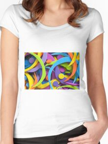 rainbow fun Women's Fitted Scoop T-Shirt