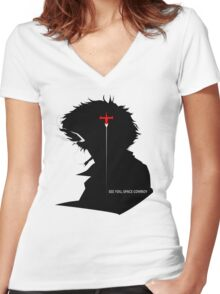 Cowboy Bebop See you, space cowboy !! Women's Fitted V-Neck T-Shirt