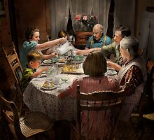 Family - Home for the holidays 1942 by Mike  Savad