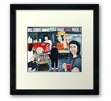 Barista on Ann Street Framed Print