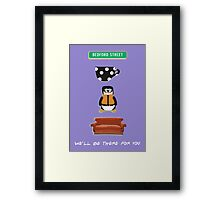 Hugsey Couch Friends Icons  Framed Print