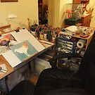 My Huge Studio by Karen  Hull