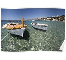 Adriatic Boats Poster