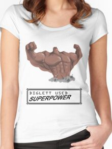 DIGLETT - SUPERPOWER!!! Women's Fitted Scoop T-Shirt