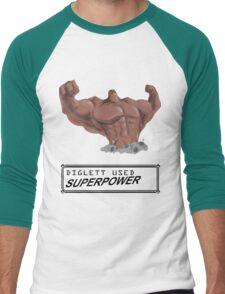 DIGLETT - SUPERPOWER!!! Men's Baseball ¾ T-Shirt