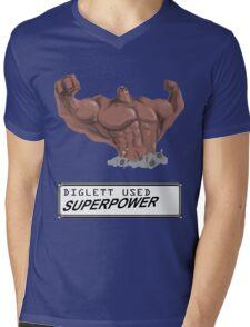 DIGLETT - SUPERPOWER!!! Mens V-Neck T-Shirt