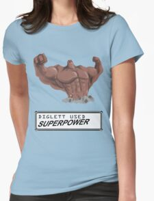 DIGLETT - SUPERPOWER!!! Womens Fitted T-Shirt