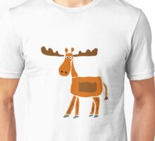 Funky Primitive Art Moose Original Art Unisex T-Shirt