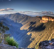 The First Step is A Doozy - Kanangra Walls, Blue Mountains World Heritage Area - The HDR Experience by Philip Johnson