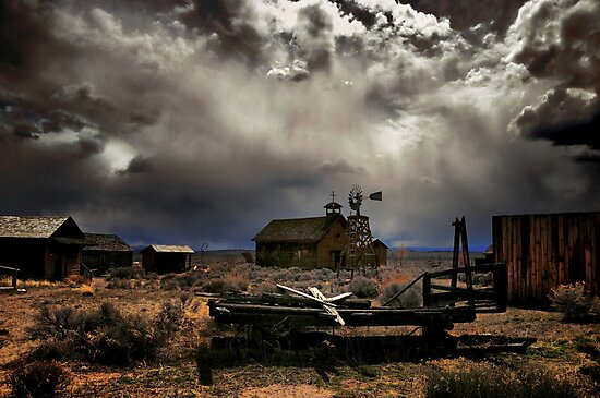 Fort Rock Ghost Town by Charles & Patricia   Harkins ~ Picture Oregon