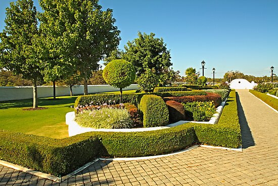 Topiary Gardens #3 by Elaine Teague