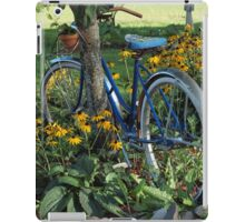 Flowers, country scene, old bicycle iPad Case/Skin