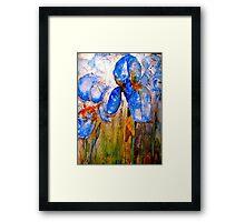 Early Morning Irises Framed Print