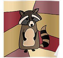 Funky Raccoon Original Art Poster