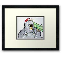 Bazooka Ape Framed Print