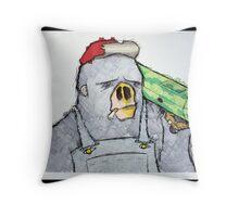 Bazooka Ape Throw Pillow