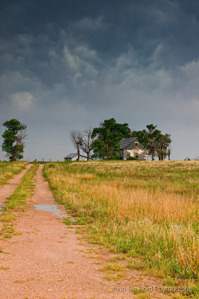 Abandoned Farms & Thunderstorms by John  De Bord Photography