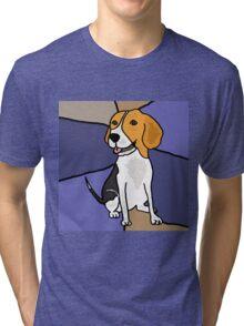 Funny Beagle Puppy Dog Abstract Original Tri-blend T-Shirt