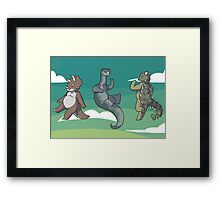 Mini Dinosaurs 2 Framed Print