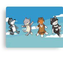 Mini Wolves Canvas Print