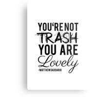 Matthew Daddario - Trash Metal Print