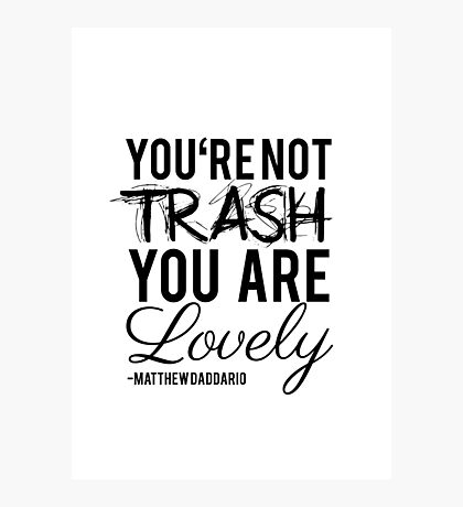 Matthew Daddario - Trash Photographic Print