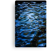 Waterpatterns in Blue Canvas Print