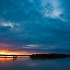 Sunset Over Oysters by John Turton