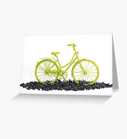 Bicycle triumphs traffic Greeting Card