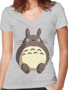 My Neighbour Totoro - Totoro Women's Fitted V-Neck T-Shirt