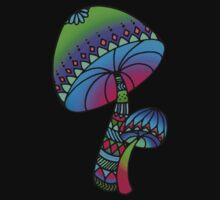 Shrooms - green/blue by hartzelldesign