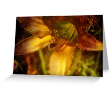Digital Abstract Lily Greeting Card