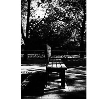 Bench. Photographic Print