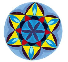 Blue and Yellow Mandala by keem