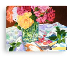"""The Last Cutting"" - The last roses for the season Canvas Print"