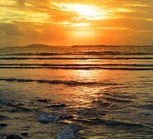 beal beach sunset near ballybunion by morrbyte